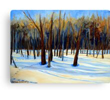 WINTER SCENE LANDSCAPE CANADIAN ART PAINTINGS Canvas Print