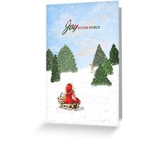 Joy to the World Christmas Card Greeting Card