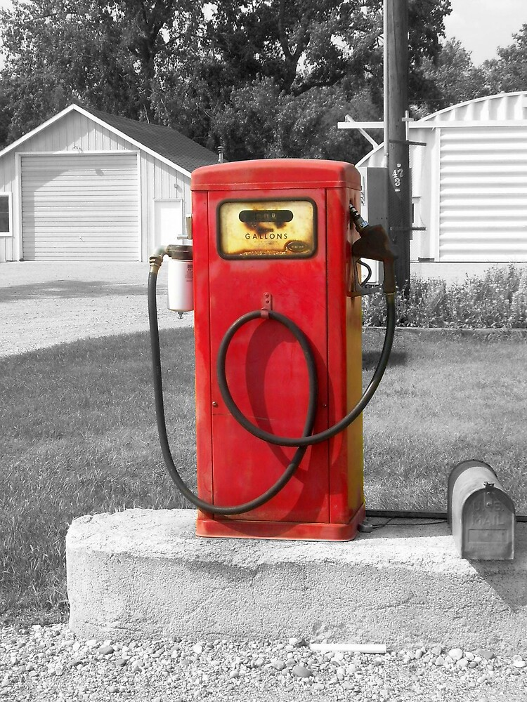 little red gas tank by Jaclyn Clemens