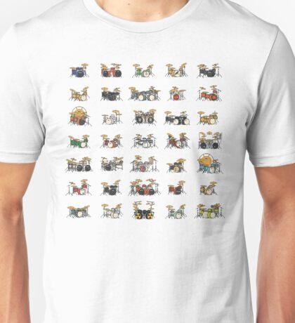 35 Pixel Drum Sets Unisex T-Shirt