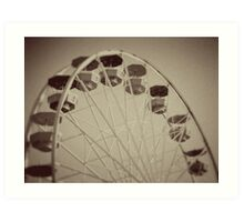 Ferris Wheel Old Art Print