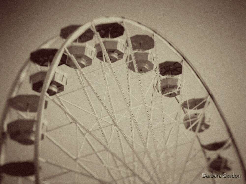 Ferris Wheel Old by Barbara Gordon