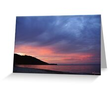 Sunset over Greek Coasts Greeting Card