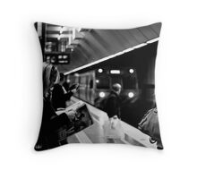 Melbourne Central Train Station Throw Pillow