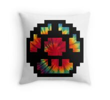 Tie Dye 8-Bit Super Mario Throw Pillow