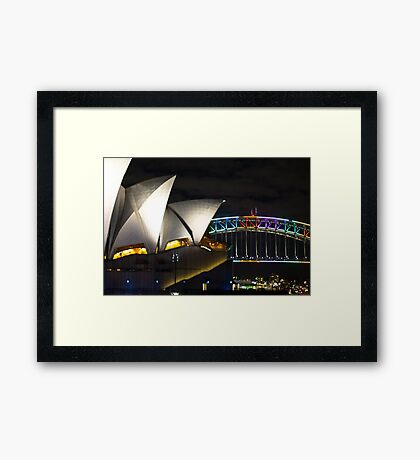 Opera House and Harbour Bridge Framed Print