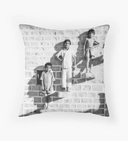 The Posing Wall Throw Pillow