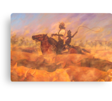 Muster Dust Canvas Print