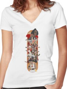 The Final Level Women's Fitted V-Neck T-Shirt
