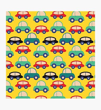 Seamless Toy Cars  Photographic Print