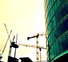 London Cranes by Simon  Mattocks