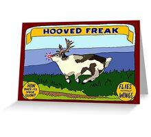 Hooved Freak Greeting Card