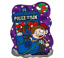 Lunar Holiday with the 11th Doctor Photographic Print