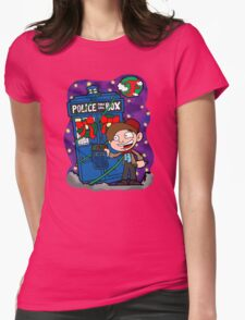 Lunar Holiday with the 11th Doctor Womens Fitted T-Shirt