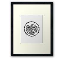 Geometric S.H.I.E.L.D. Framed Print