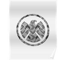 Geometric S.H.I.E.L.D. Poster