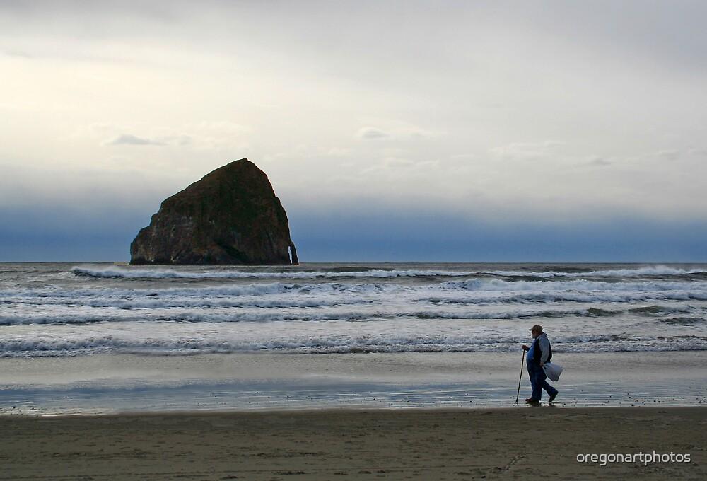 Beach Walker by oregonartphotos