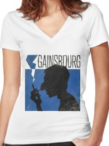 Serge Gainsbourg Women's Fitted V-Neck T-Shirt