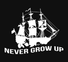 Never grow up - PETER PAN - Kids Clothes Baby Tee