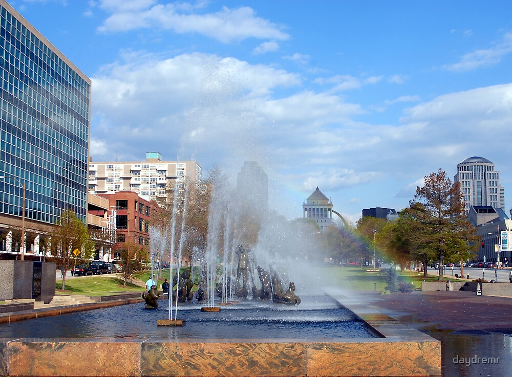 Fountain Union Station in St. Louis by daydremr