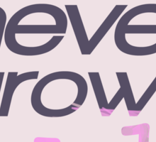 True Love Never Grows Old  Sticker
