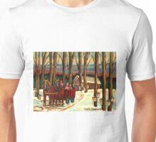 VERMONT SUGAR SHACK BEAUTIFUL WINTER LANDSCAPE  Unisex T-Shirt
