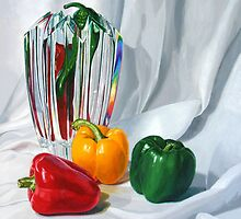 Capsicum and crystal by Freda Surgenor