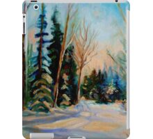 CANADIAN WINTER SCENE PAINTINGS WINTER ROAD BY CANADIAN ARTIST CAROLE SPANDAU iPad Case/Skin
