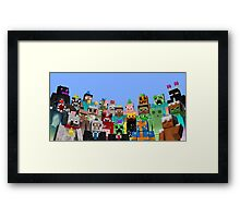 MineWorld2 Framed Print