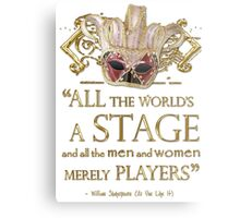 Shakespeare As You Like It Stage Quote Metal Print