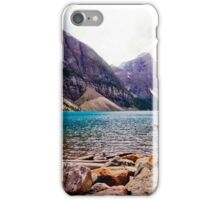 Canoeing in the Rockies iPhone Case/Skin