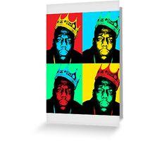 Biggie Warhol Greeting Card