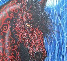 """Moonsfyre"" Stallion of Nyteworld by Beth Clark-McDonal"