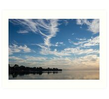 Of Feathery Clouds and Tranquil Mornings Art Print
