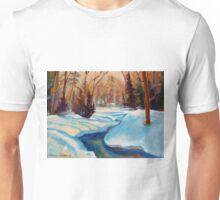 CANADIAN SCENERY BEAUTIFUL WINTER LANDSCAPE PAINTINGS BY CANADIAN ARTIST CAROLE SPANDAU Unisex T-Shirt