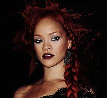 Rihanna at Met Gala 2011 by Salvatore Ambrosio