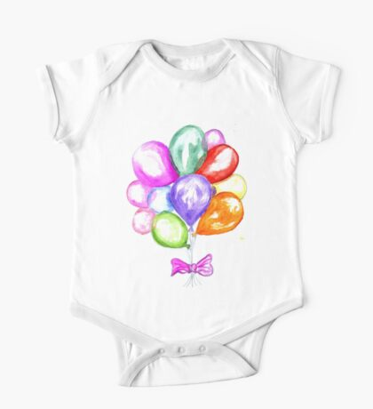 Inflatable Colorful Balloons One Piece - Short Sleeve