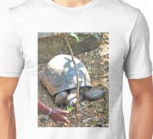HAWKSBILL TURTLE BEING FED A BANANA Unisex T-Shirt