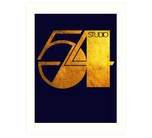 Studio 54 Golden Logo Art Print