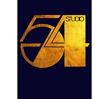 Studio 54 Golden Logo Photographic Print