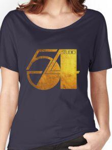 Studio 54 Golden Logo Women's Relaxed Fit T-Shirt