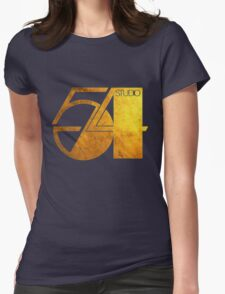 Studio 54 Golden Logo Womens Fitted T-Shirt