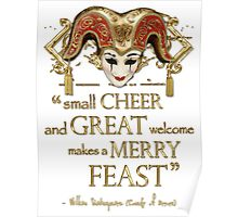 Shakespeare Comedy Of Errors Feast Quote Poster