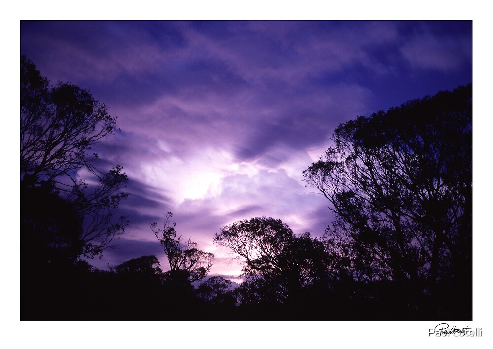 Lightning Sunset by Paul Cotelli