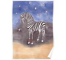 Christmas zebra vector Poster