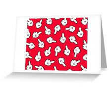 HATERS GONNA HATE! Pattern in red Greeting Card