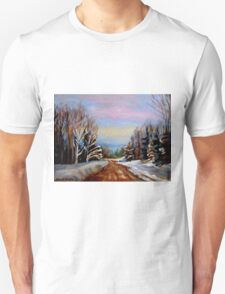 PAINTINGS OF CANADA WINTER LANDSCAPES AND SNOWSCENES CANADIAN PAINTINGS Unisex T-Shirt