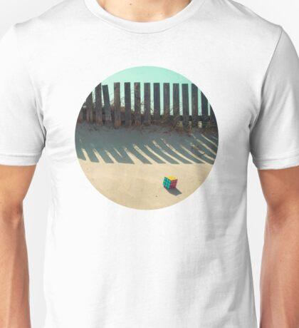 Rubik shading in the beach Unisex T-Shirt