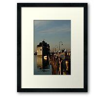In my Shadow, Gem Pier, Williamstown Framed Print