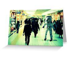 Commuting Spacemen Greeting Card